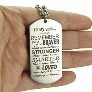 Other - Dog Tag Pendant Necklace for Men Boy Son